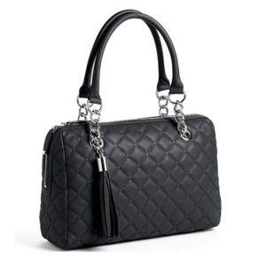 Calvin Klein Geneva Quilted Leather Satchel Bag